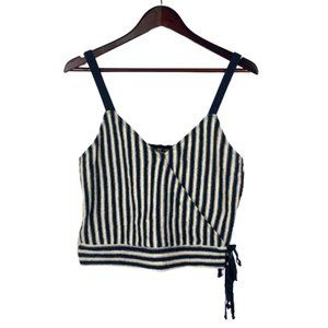 Madewell Finale Striped Faux Wrap Tank Top Size M